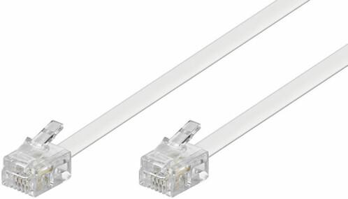 Câble téléphonique RJ11 Blanc - 3m