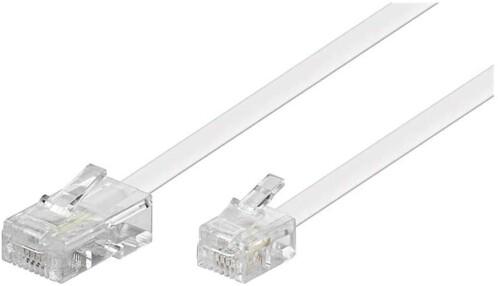 Câble téléphonique RJ11 / RJ45 Blanc - 10m