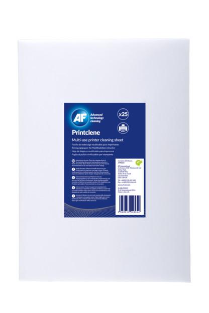 25 feuilles de papier de nettoyage pour imprimante laser af printclene