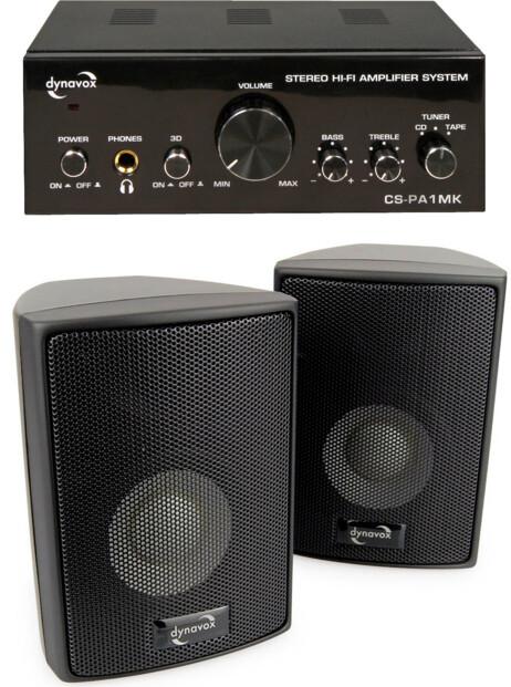 Amplificateur stéréo avec kit d'enceintes CS-PA1 - Noir