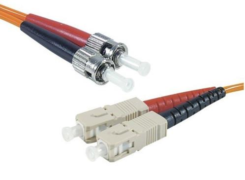 cordon fibre optique st sc multimode 62,5 125 longueur 3 m dexlan