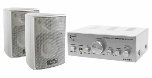 Amplificateur stéréo + kit d'enceintes Dynavox CS-PA1 - Argent