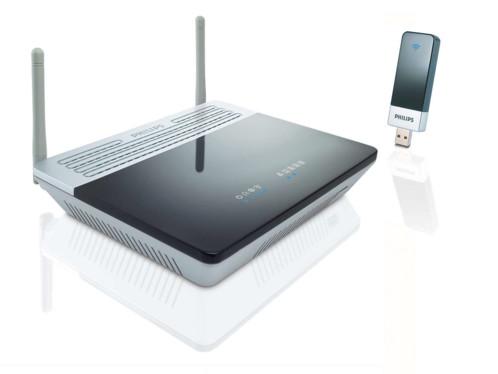 Kit modem routeur ADSL wifi + clé USB N-Draft