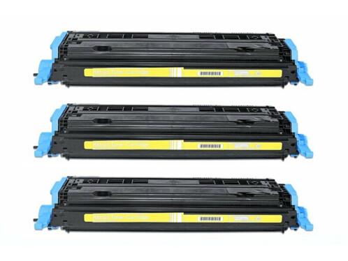 Lot de 3 toners compatibles Q6002A/EP707Y - jaune