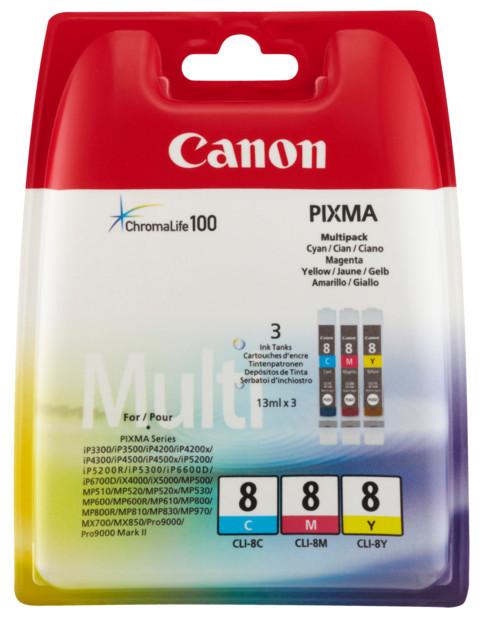 Pack cartouches originales Canon CLI8 - Couleur