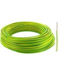 Fil électrique H07VU format 1,5 mm² Vert / Jaune - 100m
