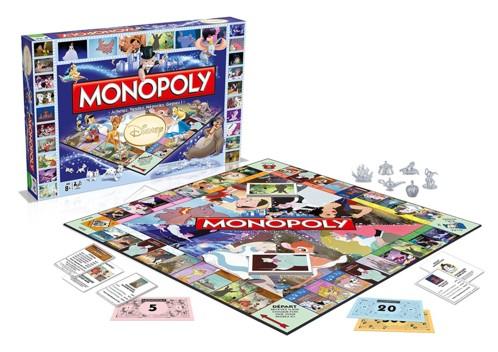 monopoly disney classics avec cases personnages heroines disney princesses