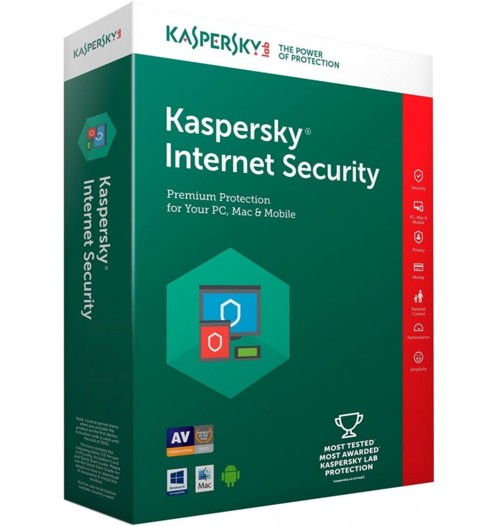 Antivirus Kaspersky Internet Security 2019 - 3 postes