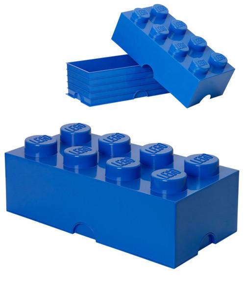 Brique de rangement Lego 8 plots (12 litres) - Bleu