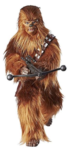 figurine parlante de chewbacca star wars forces of destiny fourrure cris