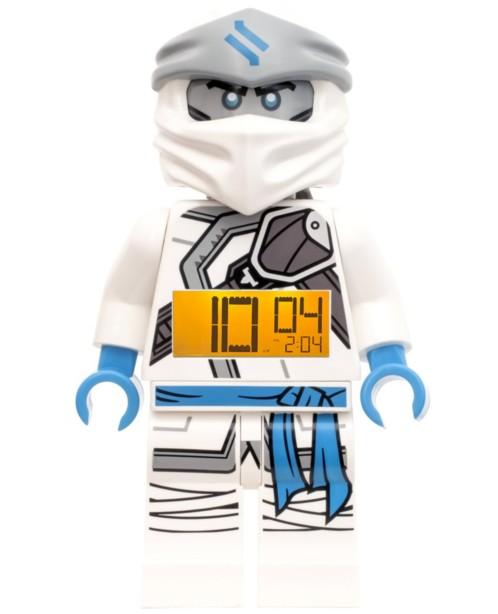 Réveil Ninjago Zane rétroéclairé - 23 cm