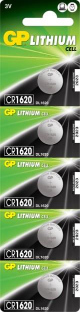 Piles bouton CR1620 - Lot de 5