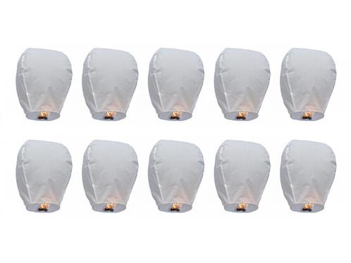 Lot de 10 lanternes volantes porte-bonheur pour Nouvel An.