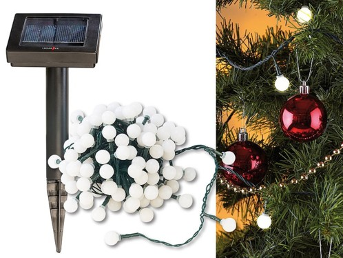 Guirlande solaire programmable - 102 LED blanches