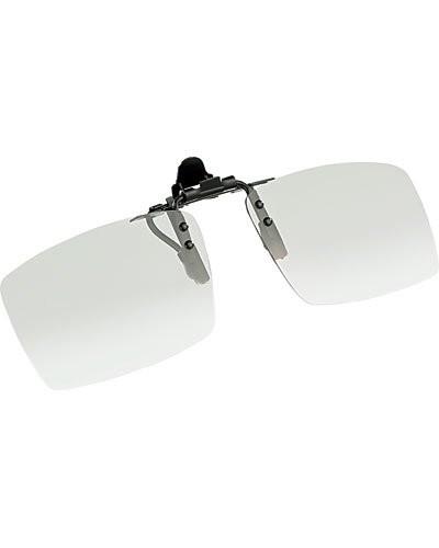 Verres de lunettes 3D amovibles à polarisation circulaire