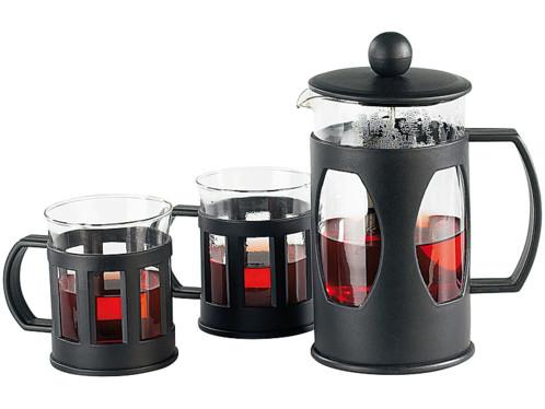 Cafetiere/Theiere à Piston + 2 Tasses