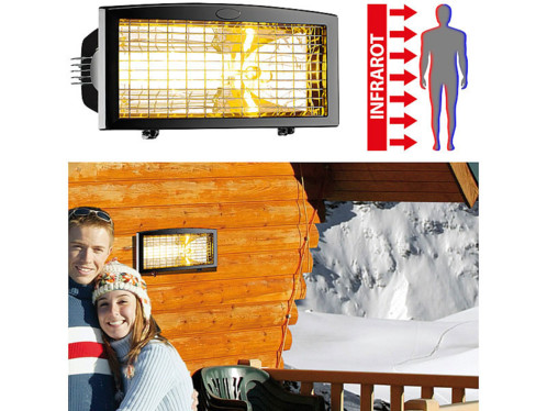 Chauffage radiant infrarouge d'extérieur - 1500 W