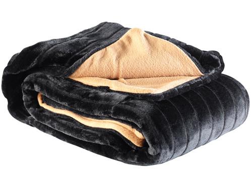 Couverture imitation fourrure noire