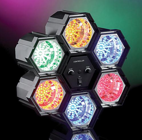 Rampe de 6 spots lumineux - 282 LED