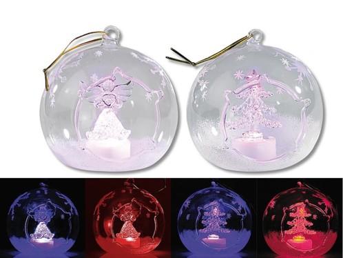 2 ornements à LED couleur changeante