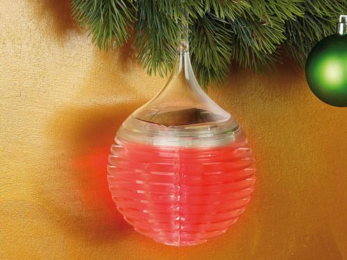 3 Boules de Noël à LED ''Cristal de Glace''