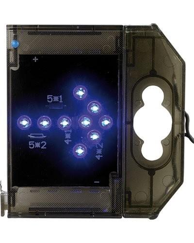 Caractère spécial lumineux à LED - '' Flèche droite '' bleu