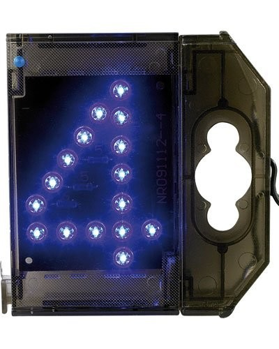 Chiffre lumineux à LED - ''4'' bleu