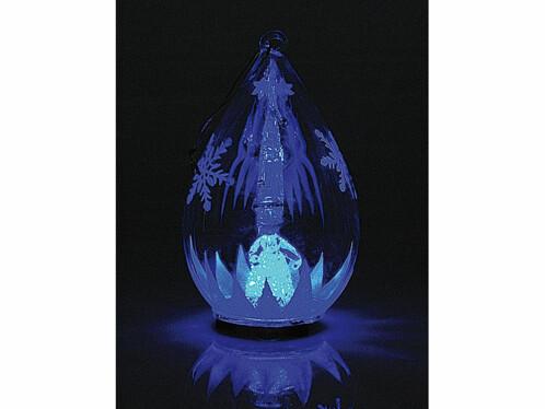 Décorations lumineuses en verre soufflé, lot de 2