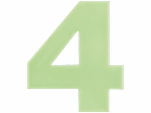 Numéro de maison phosphorescent - ''4''