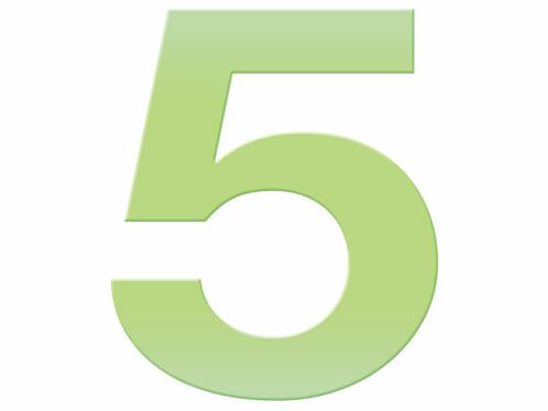 Numéro de maison phosphorescent - ''5''
