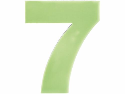 Numéro de maison phosphorescent - ''7''