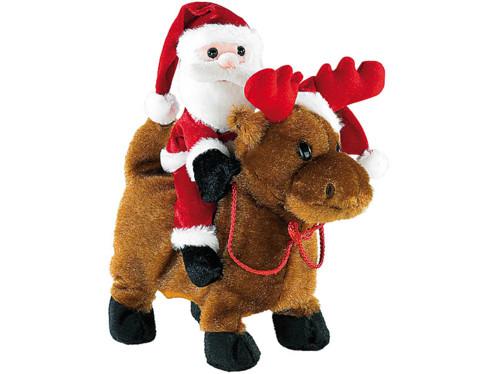 Père Noël ''Salto Claus'' sur son renne