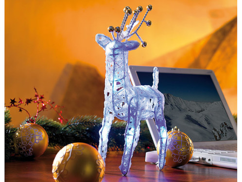 Renne du Père Noël lumineux USB/Pile