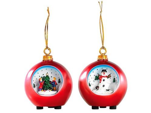 Set de Boules de Noël à ciel étoilé à LED