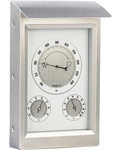 Station météorologique extérieure avec thermomètre, hygromètre et baromètre