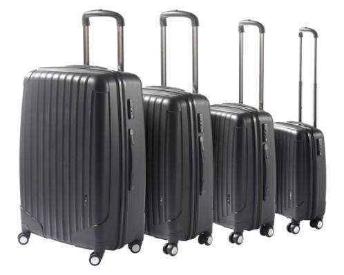 Ensemble de 4 valises trolley avec cadenas TSA intégré
