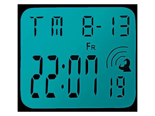Montre bracelet radiopilotée à écran LCD ''SW-640 DCF''