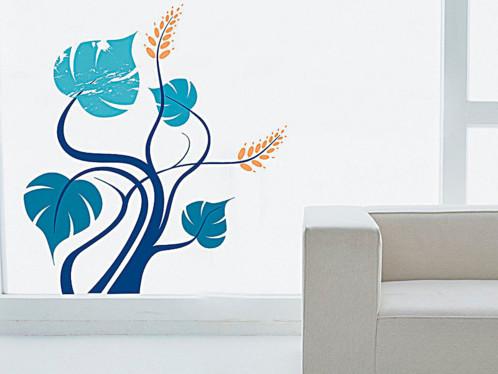 Autocollant mural - ''Arbre bleu''