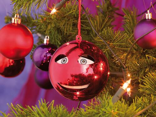 Boule de Noël chantante version rouge