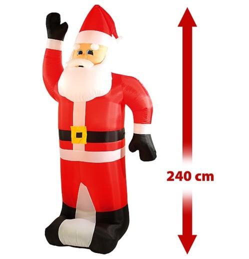 Père Noël gonflable XXL 240 cm