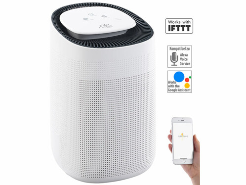 deshumidificateur avec purificateur d'air connecté compatible google home alexa sichler lft250