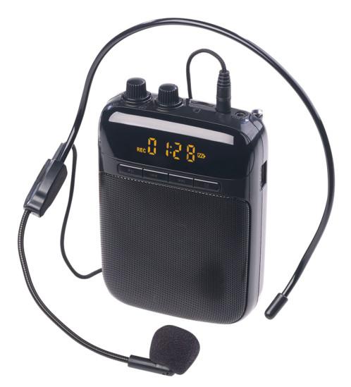amplificateur de voix pour enseignants et présentation professionnelle avec antenne fm et lecteur mp3 auvisio