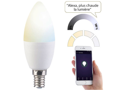 ampoule led connect e e14 rvbb compatible amazon alexa et google assistant lav. Black Bedroom Furniture Sets. Home Design Ideas
