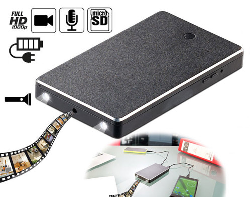 Batterie d'appoint 5000 mAh avec caméra HD intégrée ''PB-50.c''