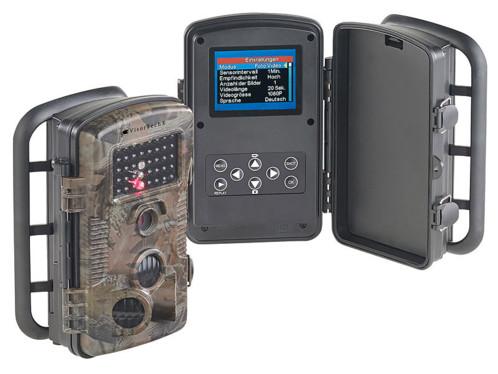 caméra de surveillance nature gibier étanche avec vision nocturne jusqu'à 20m et photos 12 Mpx visortech wk580