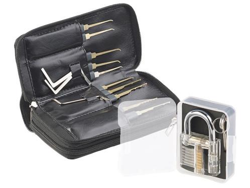 Kit de crochetage 30 pièces avec serrure d'entraînement et étui