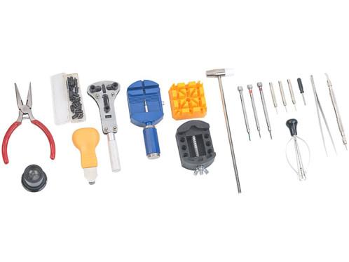 Lot d'outils d'horlogers avec 19 accessoires.