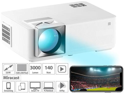 videoprojecteur 3000 lumen avec streaming miracast airplay youtube koala tv full hd lb9400 scenelights