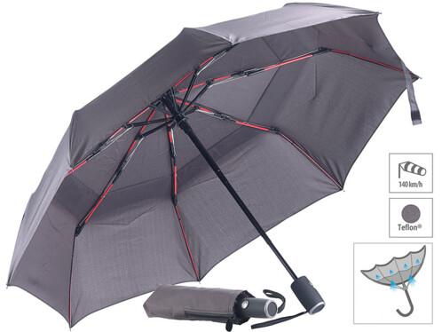 Parapluie à revêtement Teflon® 210 T résistant au vent jusqu'à 140 km/h