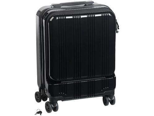 Valise trolley 30L avec compartiment ordinateur, ports USB et cadenas